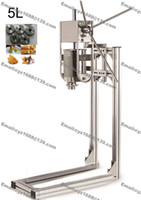 Wholesale Commercial Use Stainless Steel Manual L Spanish Doughnuts Churrera Churro Machine Maker Filler with Working Stand