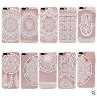 Белых слонов Цены-Хна Белый Цветочные Пейсли Цветочные Mandala слон Ловец снов Жесткий PC задняя крышка телефона чехол для iPhone 7 6 6S Plus SE 5S