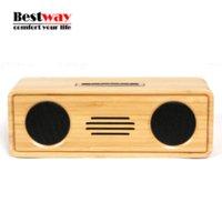 Wholesale Bamboo Enceinte Bluetooth Speaker Portable Wireless Altavoz Caixa De Som Aux Subwoofer Speakers Soundbar MP3 Player Ses Sistemi