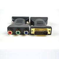 av dvi converter - High quality DVI Male To RCA Female Component AV Connector Converter Adapter