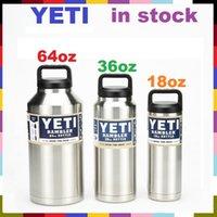 Wholesale Yeti Rambler Tumbler Bottle oz oz oz Stainless Steel Mug oz oz large Capacity With Insulated Leak Proof Cap