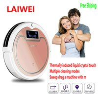 Wholesale LAIWEI sweeping robot intelligent cleaner Fully automatic Mopping machineAppointment cleaning Touch screenVoice prompt Mopping the floor wit