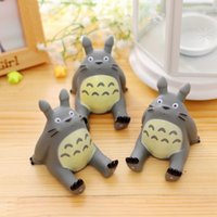 Wholesale new creative animal design cell phone holder stand totoro kitty cartoon figure pattern design rotocast pvc