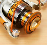 Wholesale 12 Axis BB Speed Ratio Metal Spinning Fishing Reel EF1000 Ocean Sea Boat Ice Fishing tackle Aluminum FISHING Gear Sport