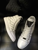 america style shoes - 2016 Europe and America station German P P Shoes Retro British style Classic High top shoes casual fashion genuine leather hip hop men shoes