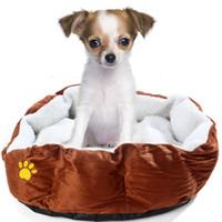 Wholesale Soft Fleece Pet Dogs Beds Puppy Cats Warm Bed House Plush Cozy Nest Mats