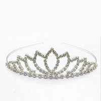 baby gifts face - 2016 Baby Girls Rhinestone Tiara Headdress Children Hair Jewelry Crown Combs Headear Exquisite Accessories Manufacturers pc