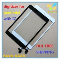 Wholesale For iPad mini Touch Screen Digitizer with IC home butoon adhesive dhl