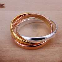 beautiful thumbs - New arrival cheap sterling silver jewelry thumb rings beautiful K gold plated silver men jewelry rings R058