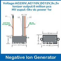 Wholesale 10pcs DC12V Output kv dc ionizer densisty model B home negative ionizer generator