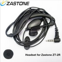 Wholesale New Stylish Best Price Handsfree Earphone Headphone Earbuds For Zastone ZT R Walkie Talkies Black Noise Cancelling Auriculares