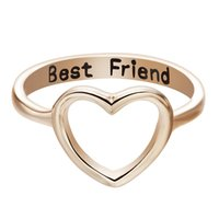 animal cutout - Silver Women s Cutout Heart Ring Best Friend Gifts Cute Lovely Promise Rings For Women girls Unique Jewelry