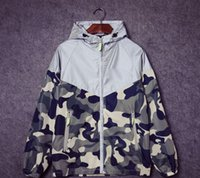 Wholesale Mens sport skateboard brand suprem M reflect light outdoor camouflage jackets coats men women camo floral jacket windbreaker