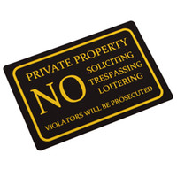 aluminium door signs - Hot Private Property No Trespassing Door Signs Vintage Square Aluminium Alloy Plaque High Quality Fast Shipment