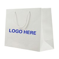 Wholesale Personalized Paper Bag With Logo Printed Suitable For Stores And Boutique Shops Recyclable Paper Shopping Bag Welcome Custom Printing