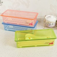 Wholesale 2016 New Chopsticks Box With The Lid Chopsticks Cage Multifunctional Chopsticks Rack Plastic Storage Box Home Storage
