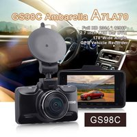 Wholesale car dvd GS98C P Full HD Car DVR Degree Ambarella A7LA70 Vehicle Digital Video Camera Recorder Night Vision GPS Wide Angle