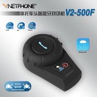 Wholesale 500 meters full duplex motorcycle Bluetooth interphone outdoor waterproof blue helmet headset V2 F