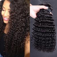 Wholesale Peruvian Deep Wave hair Bundles Virgin hair extension Nice quality Human Hair Weaving