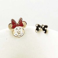 enamel paint - Sweet Lovely Minnie Mouse Bowknot Enamel Painted Ladies Girls Stud Earrings New High Quality