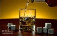 Wholesale 2set set whisky rocks whiskey stones beer stone whisky ice stone wine stones