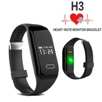 Wholesale Smart Bracelet H3 Wristband Heart Rate Monitor Bluetooth Passometer Sports Fitness Tracker Smartband For IOS Android