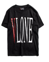 Wholesale Vlone T Shirt Men Women Harajuku High Quality Cotton Summer Style Street Short Sleeve Fashion Bapeus T Shirt Dgk