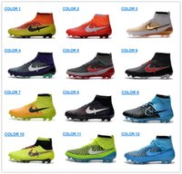Cheap 2016 Magista Obra FG With ACC Mens Soccer Boots Shoes Football sneaker New Genuine Leather Orange Yellow Magista Fg Soccer Cleats