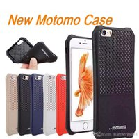 apple iphone p - For iphone6S Plus New Pattern Motomo Ultra thin TPU Radiating Case Ventilation Heat Dissipation Grid For SAMSUNG S7 With OPP Package P SW