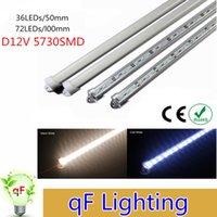 Wholesale SMD5630 Hard LED Strip bar lights Cool Warm White Light Rigid Strip DC V Aluminium Profile Shell Indoor Decoration Free DHL