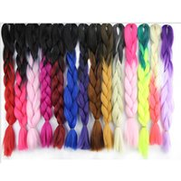 Wholesale 5Piece Ombre Kanekalon Braiding Hair G Burgundy Purple Red Synthetic Jumbo Box Braiding Hair Extensions Ombre Colors