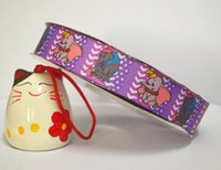 Wholesale yard roll inch printed grosgrain ribbonRTS