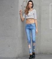 acrylic paint for sale - Personalized printing hole tight jeans feet significant lanky pants hot sale woman jeans denim fashion jeans women luxury jeans for women