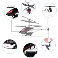 aircraft fiberglass - 3 Channel Military Shooting Remote Control Helicopter RC Metal Helicopters Aircraft Built in Gyroscope Kids Toy Gifts FLM