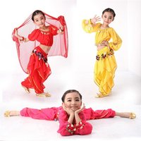 Wholesale Hot Bellydance Costume for Girls Kids Belly Dance Bollywood Dance Costumes Children Indian Dresses Clothes