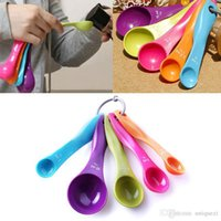 Wholesale 5Pcs Set Kitchen Colorful Measuring Spoons Spoon Cup Baking Utensil