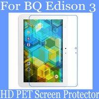 Wholesale 10 inch Clear BQ Edison PET screen protector HD transparent clear PET protector not glass screen protector