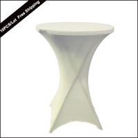 bar table base - 10PC Fashionable Bar Cocktail Table Cover Spandex White Round Based Stretch Bistros Table Cover of Wedding Banquet Party X110cm
