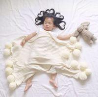 ball blanket - Hug Me Baby Blanket New Fashion Children Knitted Ball Blanket Crochet Blanket Handmade Cotton Wool Blanket ER