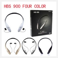 Wholesale Bluetooth HBS Headphone HBS HBS900 Wireless Sport Neckband Headset In ear Headphone Earphone For iphone Samsung S S4 Note DHL FreeE
