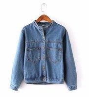 Wholesale Fashion Autumn Vintage Women s Jeans Loose Denim Jacket Women Short Jean Jacket jackets for women Outwear