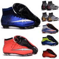 Wholesale Children Kids Sneakers Cristiano Ronaldo CR7 Mens Mercurial Superfly FG Football Boots Women Soccer Cleats Outdoor Shoes Botas De Futbol