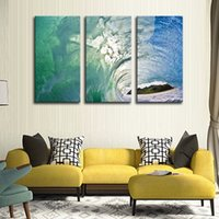 away room - LK3188 Panel Exquisite Ocean Wave Oil Painting And Hill Far Away For Modern Sitting Room Home Decoration Print on Canvas Giclee Artwork f
