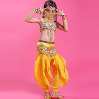 belli kids - 2016 New Girls Bollywood Dance Costumes Colors Kids Bellydance Costume Children Indian Clothes India Belli Dancer Dress DQ2010