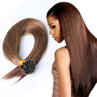 Wholesale 7A quot quot Nail U Tip Hair Extension Virgin indian Hair g s s Keratin Hair Extension Human Nail U Tip Hair