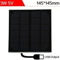 ELEGEEK 2pcs 3W 5V 145 * 145 * 3m m El USB salió la resina de epoxy encapsuló la célula solar del silicio monocristalino para DIY y prueba el sistema