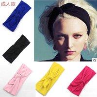 Wholesale Bunny Ear Elastic Cotton Headband For Women Girl Warm Bandana Turban Headwrap Knot Hair Band Hair Accessories The new European and American