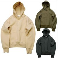 Wholesale kanye west hoodies for men OVERSIZE fleece hoodies sweatshirts pullover swag clothes winter coat mens clothing