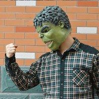 animate boy - Christmas balls Halloween adult mask animated cartoon children s day The incredible hulk hulk mask latex