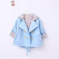 beautiful trench coat - heat newborn baby jacket Beautiful girl children princess coat trench coat cotton girl clothing